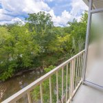 Enjoy your private balcony overlooking the Little Pigeon River