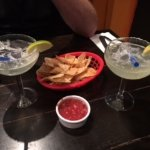 chips, salsa and margaritas