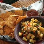 pineapple salsa and regular salsa