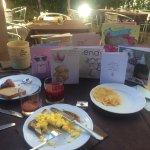 Birthday buffet breakfast outside