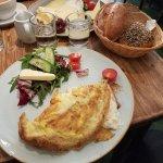 Feta omelette & cheese breakfast