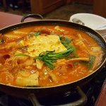 Attractively-served Boodae Jungol stew