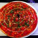 Pizza a l'ail (zonder olijven)