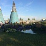 Dachgarten (Parkomanie, die Gartenlandschaften des Fürsten Pückler) und Aussicht auf das Kunstmu
