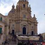 Ragusa - Baroque style church and piazza - around 45 mins away.