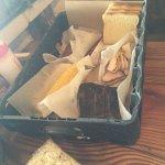 Ribs, corn, brisket, sauage and bread! Yum!