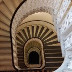Kimpton Hotel - Monoco Wash, DC - marble spiraling staircases