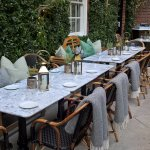 Part of the Dalloway Terrace set up for our group of 15 dinner
