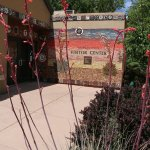 The entrance to the Murray Ryan Visitor Center in Silver City, New Mexico.
