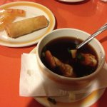 Wonton Soup with Spring Roll