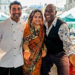 Good Friend Ainsley Harriott with Award Winning Chef Farooq Ahmed & Wife Shefali
