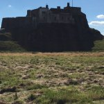 Lindesfarne Castle, seen from the path just outside the Inn