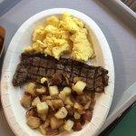Steak and eggs. Steak was wonderful!