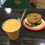 Ice cream Sandwich and Mango Smoothie. Both are a MUST!