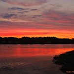 Sunset over the WeWeAntic River by Heather Mattos Photography