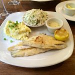 Sand Dabs with lemon caper sauce
