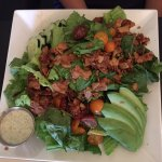 Blossoming Lotus Cobb salad with coconut bacon & caper ranch dressing