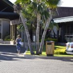 The outside of the Tanoa Waterfront Hotel is tidy with ample parking