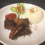 deep fried beef ribs with chili balacan