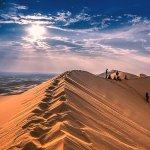 Sunset at the Sand Dunes in Gobi Desert, Mongolia
