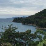 We rode the free assist city bikes from Minamata city to Yunoko along this road.  Beautiful view