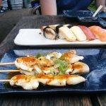 Sushi and yakitori