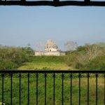 Aussicht vom Hotelgebäude auf den Caracol (Observatorium)
