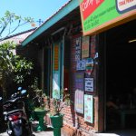 In front of warung