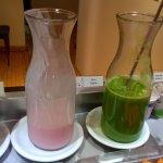 suco verde no café da manhã...