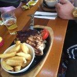 The Chicken dish & the Steak & King Prawn main..