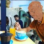 Cafe con leche y zumo de naranja