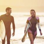 Surfers on Del Beach