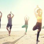 Beachfront Yoga on Del Beach