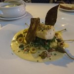 Cod filet in duo with brandade (creamy cod and potatoes in Provencal style)