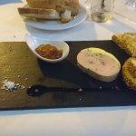 Homemade foie gras, apricot chutney and ginger