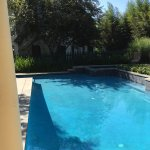 View of pool from front door of Vintner's Cottage