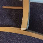 The poor repaired chair!