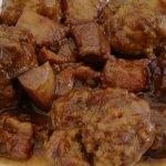Albóndigas con sepia y alcachofas - Bar Mossec (Tamariu)