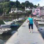 A great way to arrive at The Anchorstone Cafe is to catch the Dittisham ferry from Dartmouth.