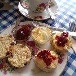 Cream Tea- Fruit scones ,Clotted cream & Jam.