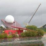 L'ancienne boule du pavillon emblême du Futuroscope avant sa dépose en 2012