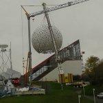 Pose de la nouvelle boule en novembre 2014