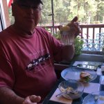 Eating at Village Buttery in Ruidoso. Had a fantastic Breast of Turkey on a croissant with chips