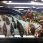 Fresh fish display