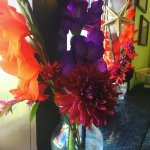 Local flowers are available for sale
