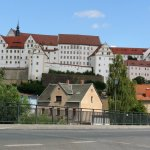 Picture 1 The castle rising above Colditz town