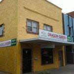 Entrada principal del Restaurante Dragon Garden de Lexington, Nebraska.
