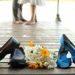 Shoes Wedding Wilson Lake Inn, Wilton, ME