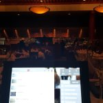Dining room back ground. Electronic wine list via iPad