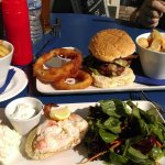 Lush crab salad and venison burger